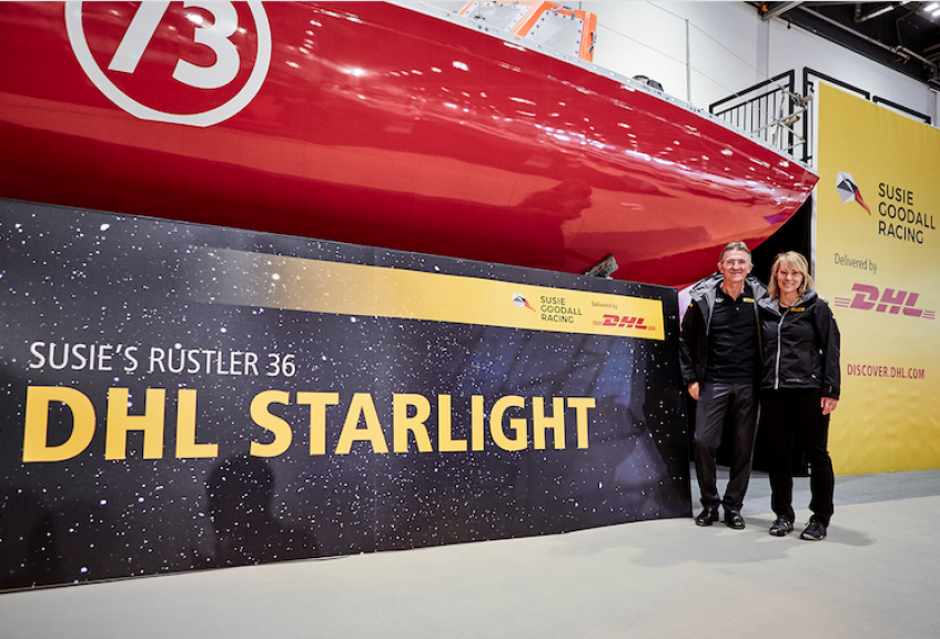 Golden Globe Race competitor Susie Goodall introduces 'DHL Starlight' at London Boat Show