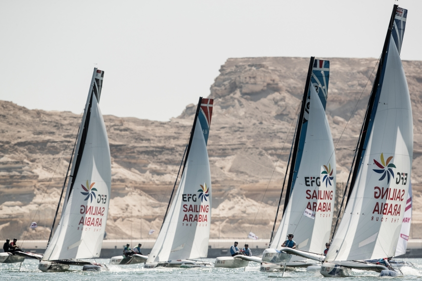 Video Alert: Beijaflore the team to beat as EFG Sailing Arabia – The Tour action heats up